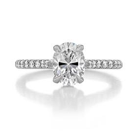 1.50 ct Oval Hidden Halo Platinum Engagement Ring (CR09OV-PL)