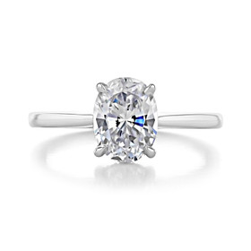 2.50 ct Oval Solitaire Platinum Engagement Ring (FG87OV-PL)