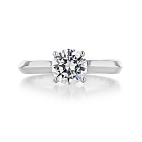 1 ct Round Solitaire Platinum Engagement Ring (SO21-PL)