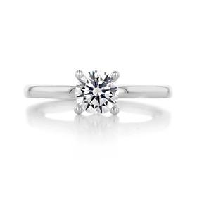 .75 ct Round Gabriel Solitaire Platinum Engagement Ring (ER14982-075-PL)