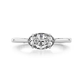 1 ct Simply Tacori Solitaire Platinum Engagement Ring (2654OV75X55-PL)