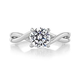 1.25 ct Round Gabriel Solitaire Twist Platinum Engagement Ring (GC38-PL)