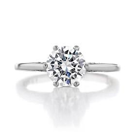 1.50 ct Simply Tacori 6-Prong Platinum Engagement Ring (2650RD75-PL)