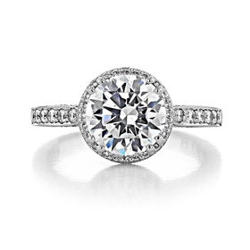 2.50 ct Tacori Dantela White Gold Engagement Ring (2639RDP85)