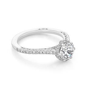 Tacori Petite Crescent Engagement Ring (HT254715RD65)