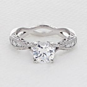 Tacori Classic Crescent Engagement Ring (2578RD65)