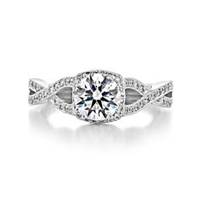 Tacori Ribbon Engagement Ring (2627RDSM)