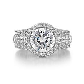 2.50 ct Tacori RoyalT Platinum Engagement Ring (HT2613RD9)