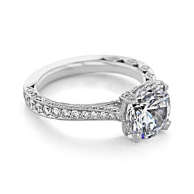 Tacori RoyalT Engagement Ring (HT2626RD9)