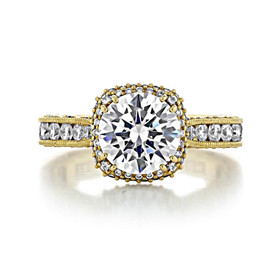 2 ct Tacori RoyalT Yellow Gold Engagement Ring (HT2607RD8)
