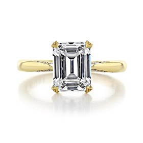 2 ct Tacori RoyalT Yellow Gold Engagement Ring (HT2625EC9X7)