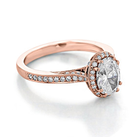 Tacori Dantela Rose Gold Engagement Ring (2620OVMDP)