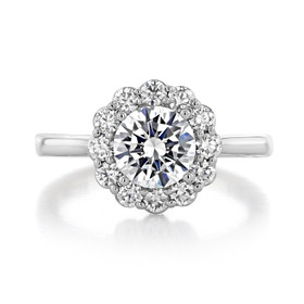 1.25 ct Tacori Full Bloom White Gold Engagement Ring (55-2RD7)