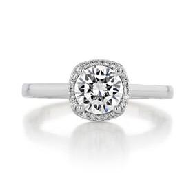 1 ct Tacori Sculpted Crescent White Gold Engagement Ring (49CU65)