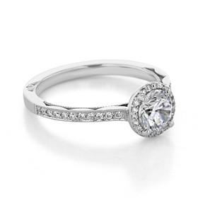 Tacori Sculpted Crescent Engagement Ring (49RDP6)