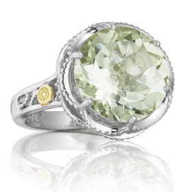 Crescent Crown Prasiolite Quartz Fashion Ring  (SR12312)