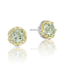 Crescent Crown Prasiolite Fashion Earrings  (SE105Y12)