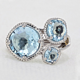 Gemma Bloom Sky Blue Topaz Fashion Ring (SR13702)