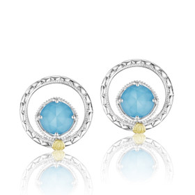 Gemma Bloom Neo-Turquoise Fashion Earrings (SE14005)
