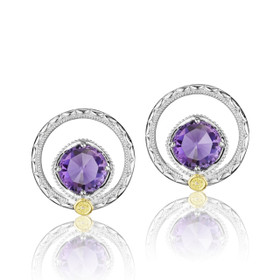Gemma Bloom Amethyst Fashion Earrings (SE14001)