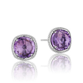 Gemma Bloom Bold Amethyst Fashion Earrings (SE15601)
