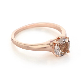 Rose Gold Morganite Engagement Ring (R921)