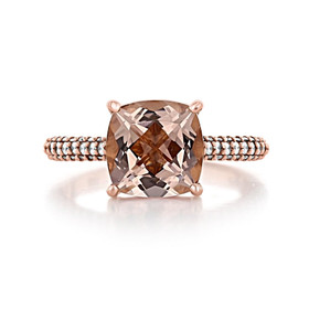 Rose Gold Morganite Engagement Ring (R940-4)