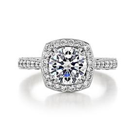 2 ct Tacori RoyalT Platinum Engagement Ring (HT2650CU8)