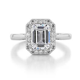 2 ct Emerald Cut Tacori RoyalT Platinum Engagement Ring (HT2651EC85X65)