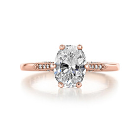 1.50 ct Simply Tacori Rose Gold Engagement Ring (2651OV85X65)