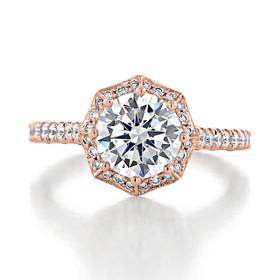 1.50 ct Tacori Petite Crescent Rose Gold Engagement Ring (HT2555RD75)