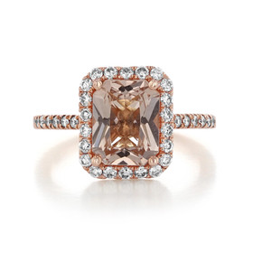 Rose Gold Morganite Engagement Ring (R893-4)