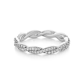 Twist Micro-Prong Wedding Band (FG551)