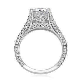 Split-Body Pavé Engagement Ring (MK50D)