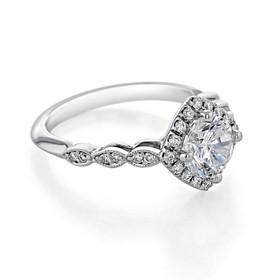 Halo Pavé Engagement Ring (CR11)