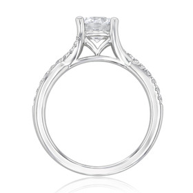 Micro-Prong Twist Engagement Ring (GC07)