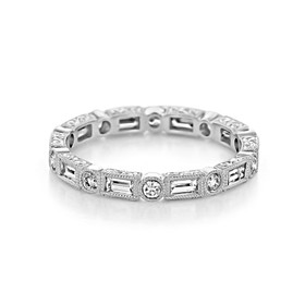 Bezel Set Wedding Band (LB188)