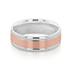 Signature Two-Tone Men's Wedding Band (FG11)