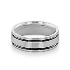 Signature Grey Gold Men's Wedding Band (WB526)