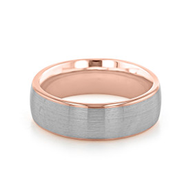 Signature Two-Tone Men's Wedding Band (WB528)