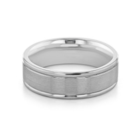 Signature Grey Gold Men's Wedding Band (WB529)