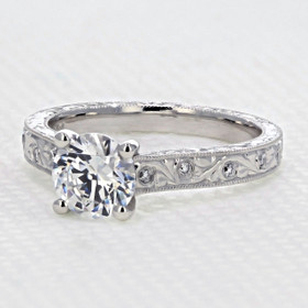 evertrue Engraved Engagement Ring (EV20D)