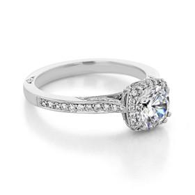 Tacori Dantela Moissanite Engagement Ring (2620RDSMP-M)