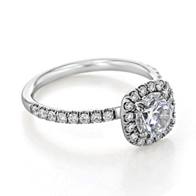 Halo Moissanite Engagement Ring (CR15-M)