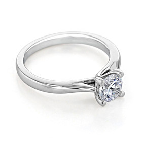 Solitaire Moissanite Engagement Ring (FG473-M)