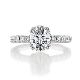 1.50 Ct. Oval Shape Moissanite Micro-Prong Engagement Ring (CR198OV-M)