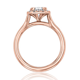 Rose Gold Halo Moissanite Engagement Ring (EV13-M)