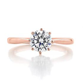 Rose Gold Solitaire Moissanite Engagement Ring (EV108-M)