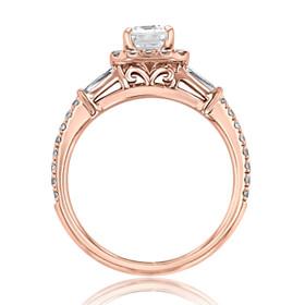 Halo Moissanite Engagement Ring (GC26R-M)
