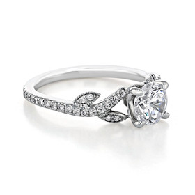 Micro-Prong Moissanite Engagement Ring (FG516-M)